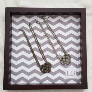 Jewelry - Gold and silver Twisted Pretzel Necklaces